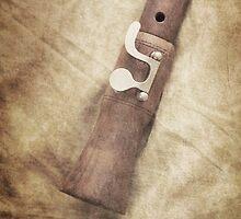 Still life of old wooden flute by Artmassage