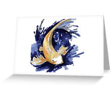 Golden Koi Greeting Card