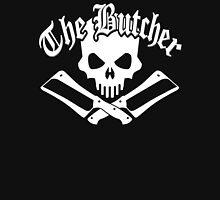 Butcher Skull and Cleavers White Unisex T-Shirt