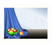 Rainy Day Apples Art Print