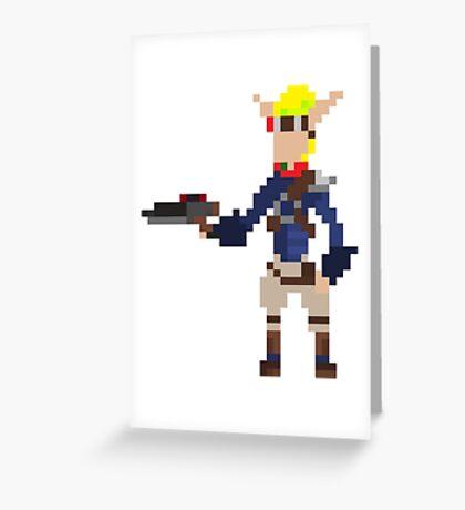 Pixel Jak2 Greeting Card