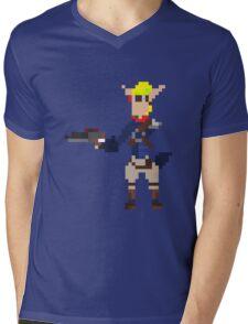 Pixel Jak2 Mens V-Neck T-Shirt