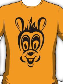 Funny cartoon rabbit silhouette T-Shirt
