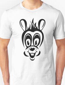 Funny cartoon rabbit silhouette Unisex T-Shirt