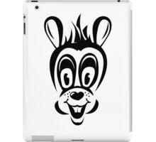 Funny cartoon rabbit silhouette iPad Case/Skin