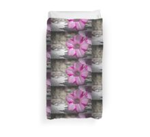 White and Pink Flower Duvet Cover