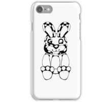 funny rabbit silhouette drawing iPhone Case/Skin