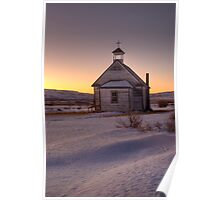 The little church on the prairies. Poster