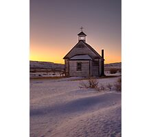 The little church on the prairies. Photographic Print