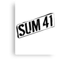 Sum 41 Shirt Canvas Print