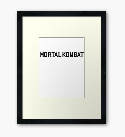 Mortal Kombat X TEXT Framed Print