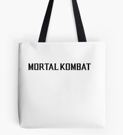 Mortal Kombat X TEXT Tote Bag