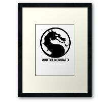 Mortal Kombat X LOGO Framed Print