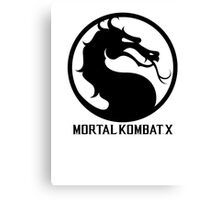 Mortal Kombat X LOGO Canvas Print