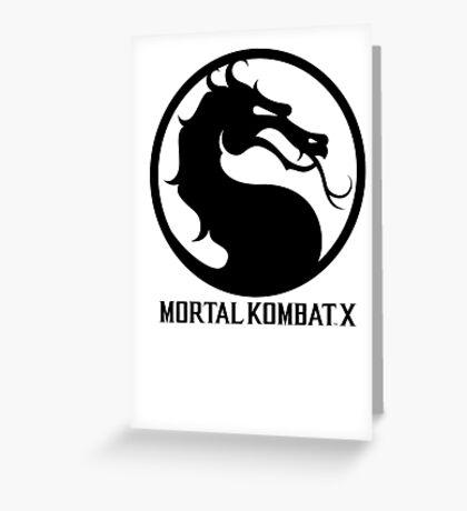 Mortal Kombat X LOGO Greeting Card