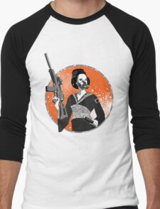 Geisha and Machine Gun Men's Baseball ¾ T-Shirt