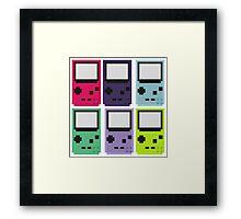 Gameboy colors Framed Print