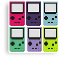Gameboy colors Canvas Print