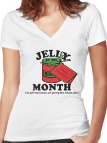 Jelly of The Month Women's Fitted V-Neck T-Shirt