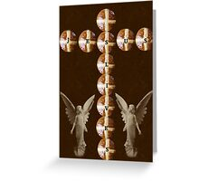 HOT CROSS BUNS CROSS AND ANGELS - JESUS LIVES PICTURE AND OR CARD ECT.. Greeting Card
