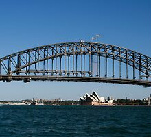 Harbour Bridge and Opera House by Michael Pin