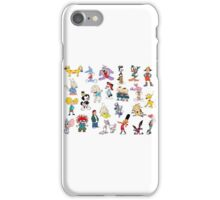 90s Cartoon Characters iPhone Case/Skin