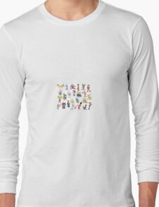90s Cartoon Characters Long Sleeve T-Shirt