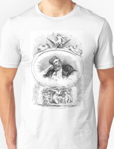 Jean-Baptiste_Carpeaux  Portrait of Carpeaux between sketches of sculptures T-Shirt