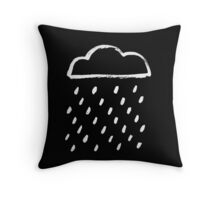 Lluvia negra Throw Pillow