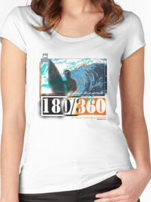 edgy surf Women's Fitted Scoop T-Shirt