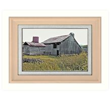 """""""Nostalgic Old Barn, the Back Side"""" ...with a matted and framed presentation, for prints and products  Art Print"""