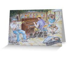 Street musicians, Barcelona by Paul Sagoo Greeting Card