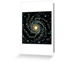 Messier 101 (8bit) Greeting Card