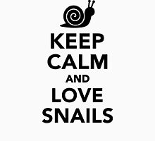 Keep calm and love snails Womens Fitted T-Shirt