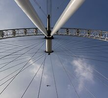 The London Eye And Apache Helicopter by DavidHornchurch