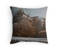 Okayama Castle Throw Pillow