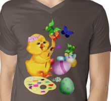 Easter Chick Paints Mens V-Neck T-Shirt