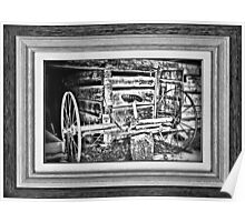 """""""'Back to the Dump Rake, Boys'"""" ... with a matted and framed presentation, for prints and products Poster"""