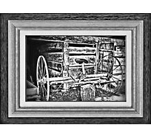 """'Back to the Dump Rake, Boys'"" ... with a matted and framed presentation, for prints and products Photographic Print"