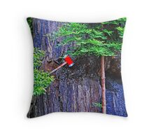 In the footsteps of giants Throw Pillow