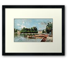 Joaquín Sorolla SPANISH 1863 - 1923 VISTA DEL EMBARCADERO DEL PARQUE DEL RETIRO (VIEW OF THE JETTY IN THE RETIRO GARDENS, MADRID) 1882 Framed Print