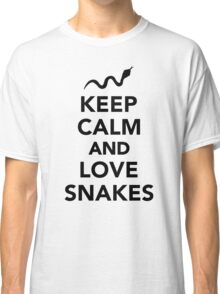 Keep calm and love snakes Classic T-Shirt