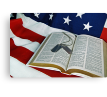 God And Country Canvas Print