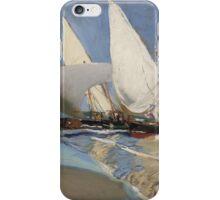 Joaquin Sorolla y Bastida - La playa de Valencia 1908 iPhone Case/Skin