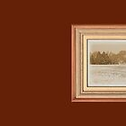 """""""Wide Country Christmas"""" ... with a matted and framed look for prints and products by © Bob Hall"""
