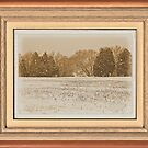 """Wide Country Christmas"" ... with a matted and framed look, for prints and products by © Bob Hall"
