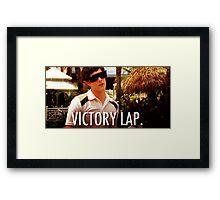 Victory Lap Framed Print