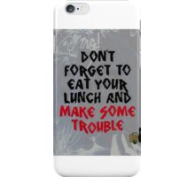 lunch with fire iPhone Case/Skin