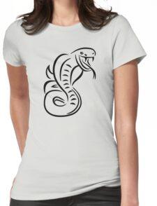 Snake cobra Womens Fitted T-Shirt