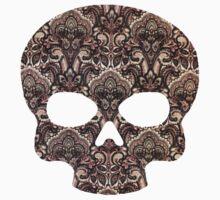 Vintage Paisley Skull Kids Tee